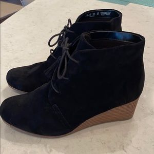 Dr Scholl's Black Wedge Booties